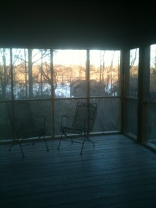 Deluxe Cabin Screened Porch