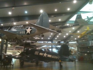 Just one view of inside the Naval Aviation Museum