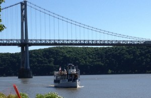 The Hudson River Bridge crossing over to Poughkeepsie.