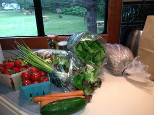 My bounty from the farmer's market in Hanover, N. H.