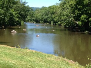 This was our view  every time we left the Lazy River Campground - taken from the exit gate. The Wallkill River ran along side the park.