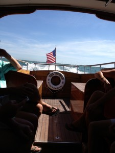 Our ferry boat ride to Little Palm Island.