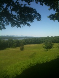 The Vista from the Vanderbilt Estate in Hyde Park - looking West back across the Hudson River.