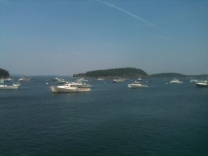 Boats in Bar Harbor.