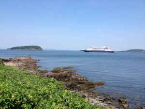 Cruise ship at Bar Harbor.