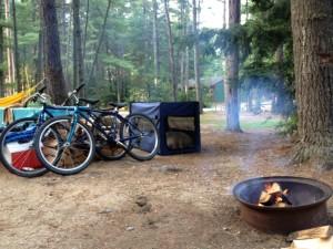 Our campsite: W50.