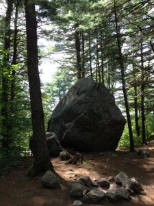 "I'm guessing boulders like this randomly scattered around the landscape are the reason they call New Hampshire ""The Granite State""."