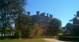 A side view of the famous Breakers Mansion.