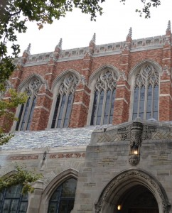 One of the beautifully intricate buildings on the Yale campus.