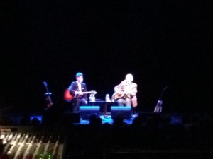 Lyle Lovett and John Hiatt entertaining us from the stage