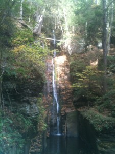 The first waterfall on our hike in The Poconos.