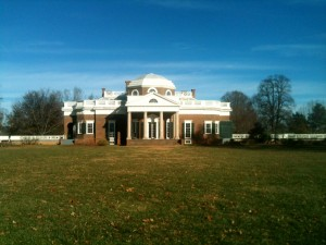 Monticello from the 'back yard'.