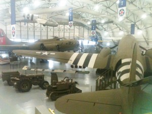 Inside the hanger of the Air Command Museum.