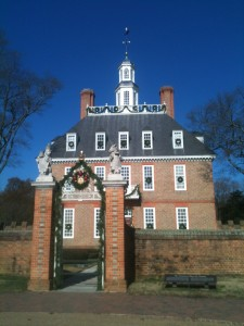 The Governor's House in Colonial Williamsburg.