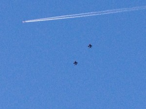 Fighter jets buzzed the City of Virginia Beach the whole time we walked around town that day.