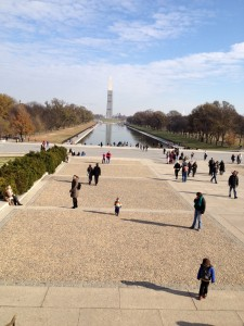 Looking at the mall from the Lincoln Memorial.