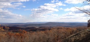 A mountain vista from a rest stop on our way to Morgantown, WV.