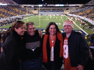 Morgantown, WV was about a 5-hour drive for each of us. The cousins decided to 'meet in the middle' one more time to enjoy some Longhorn Football.
