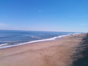 The beach at Kitty Hawk