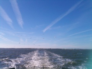 From the ferry on the way to Ocracoke.