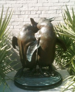 Happy Penguins in the Brown Sculpture Garden at Brookgreen Gardens