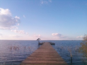 The pier at Lake Waccamaw State Park