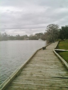 The boardwalk at Fairview Riverside State Park in Louisiana.