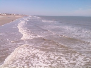 The surf at Folly Beach.
