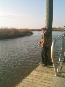 From the fishing Pier at James Island County Park.