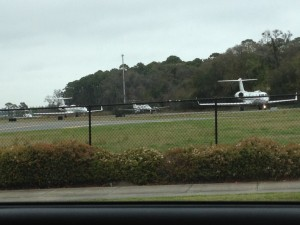 There were some fancy jets lined up for departure on the runway as we passed by the airport on St. Simon's Island.