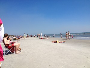 The spring break season was getting underway during our beach day on Hilton Head Island.