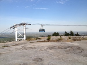 Mike and I took the tram to the top of the mountain one afternoon after he played golf.