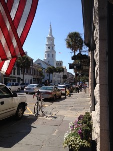 A view from Charleston's famous Broad Street.