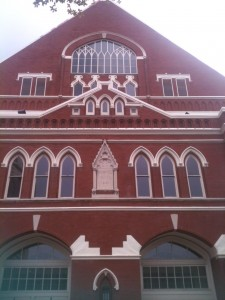 The Ryman Auditorium. Thanks to Emmy Lou Harris for sparking its historic restoration and bringing it back to life.