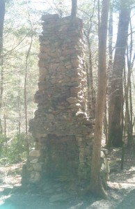 I've learned it is not so uncommon to stumble upon a random stone fireplace in the middle of the woods.