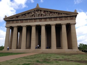The Parthenon in Centennial Park is the only full-scale replica of the original Athenian masterpiece in the United States.