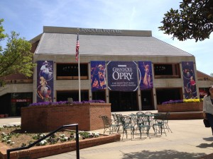The Grand Ole Opry at Opryland. A giant perk about the location adjacent to a giant mall? There was a Chuy's Restaurant, so we got some REAL Tex-Mex after the show. YUM!