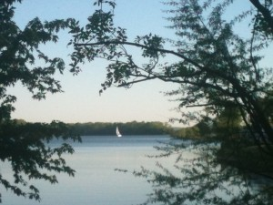 A Friday afternoon view of Percy Priest Lake from our spot at Nashville Shores.