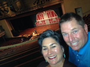 A selfie at the Ryman.