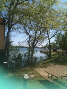 The view from our dining room window during out week at Nashville Shores.