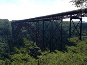 The historic bridge over the New River Gorge.