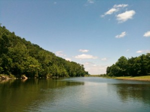 Wapocoma Campground is on the South Branch of the Potomac River. They have about one mile of riverbank that wraps around the boundaries of the campground.