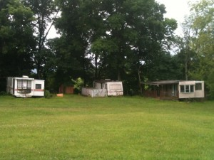 My friend Janet thought I was being a bit harsh when I called the place dumpy. When I took this photo and texted it to her, she realized I was actually being optimistic.