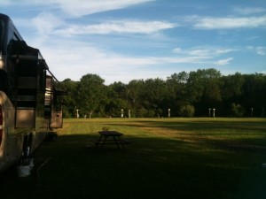 One of the benefits of staying at an ultra crappy campground where all utilities are on the blink...we had the place to ourselves.