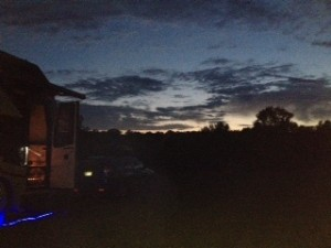 Sunset at the abandoned RV Park.