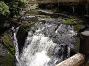 I love the noise and energy that you feel when standing so close to the rushing water.