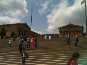 Almost every single person on those steps was channeling Rocky that afternoon.