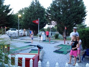 Our campground was family owned and extremely well maintained. One of the fun activities that was available was a mini Putt Putt course.