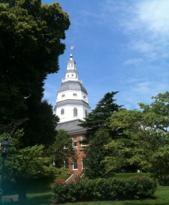 The Maryland Statehouse.