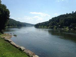 On my drive through Emlenton and Foxburg, I stopped for a snack at the Allegheny Grill on the banks of the Allegheny River. The day was just too gorgeous not to stop and enjoy the view from the patio for a bit.